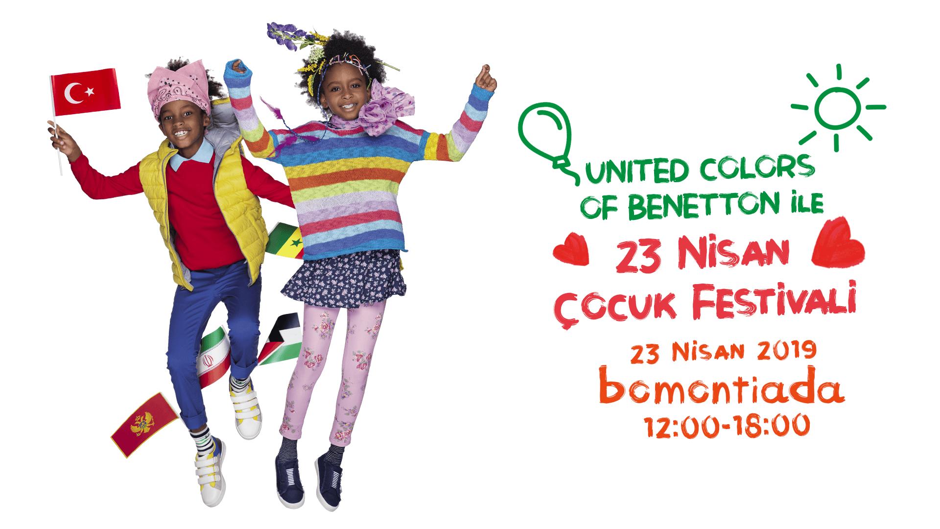 """United Colors of Benetton İle """"23 Nisan Çocuk Festivali""""ne Davetlisiniz"""