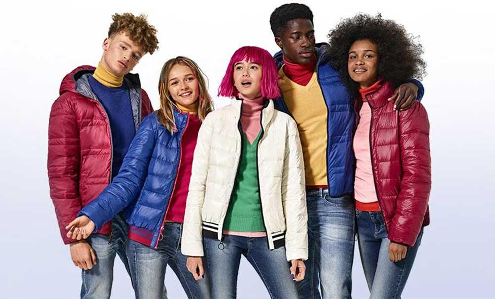 """United Colors of Benetton, rengarenk""""puffer"""" montlarıyla  kışa hazır…"""