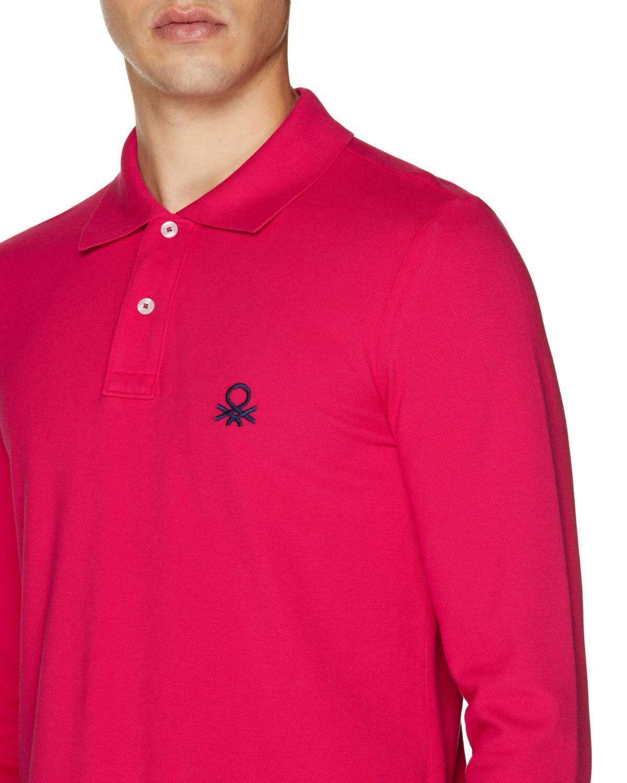 Slim Fit Uzun Kollu Polo Tshirt