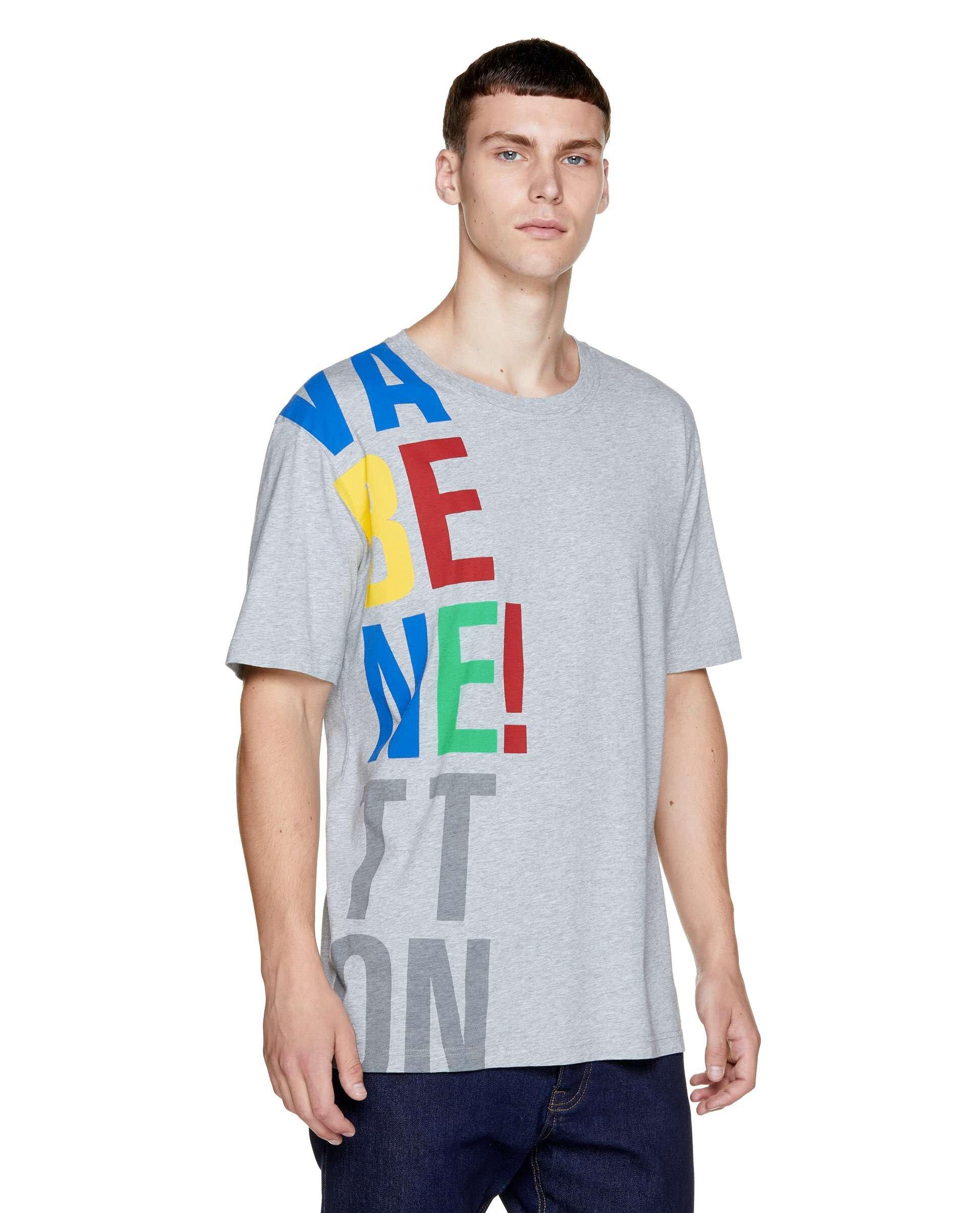 Benetton Baskılı Oversize Tshirt