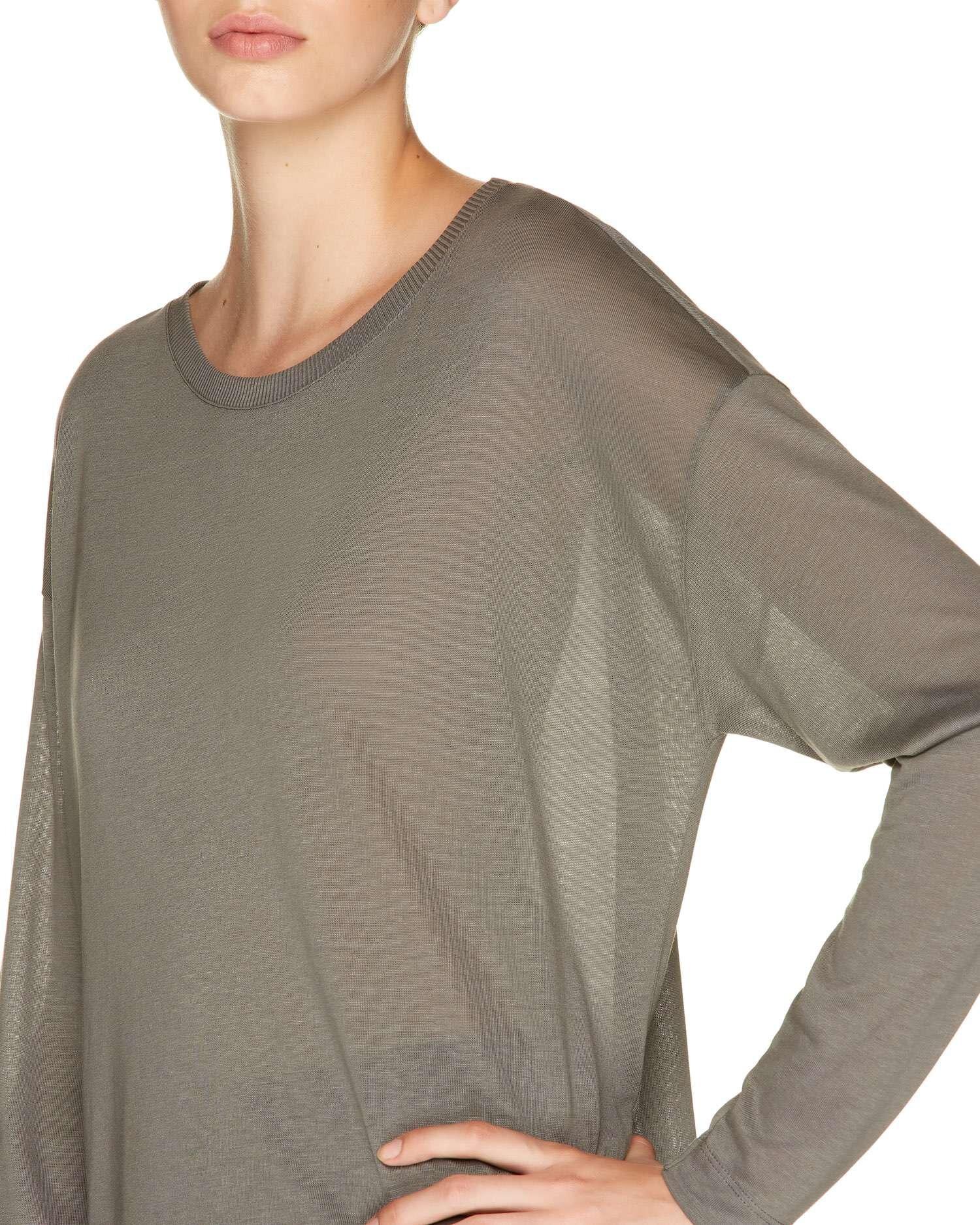 Liyosel-Koton Dökümlü T-shirt