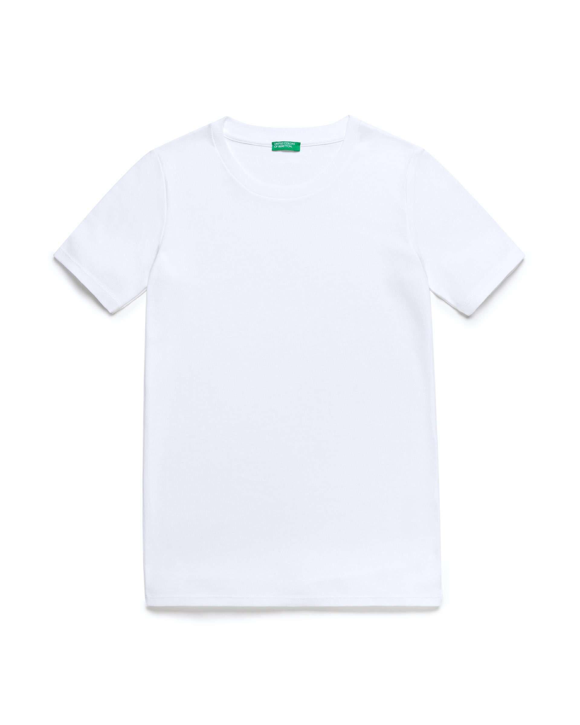 Bisiklet Yaka Kısa Kollu Basic T-Shir