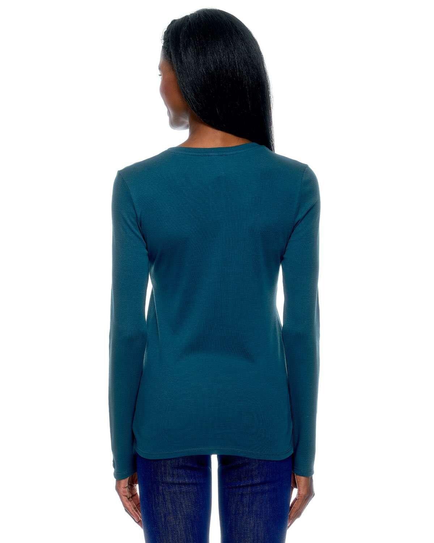 V Yaka Uzun Kollu Basic T-shirt
