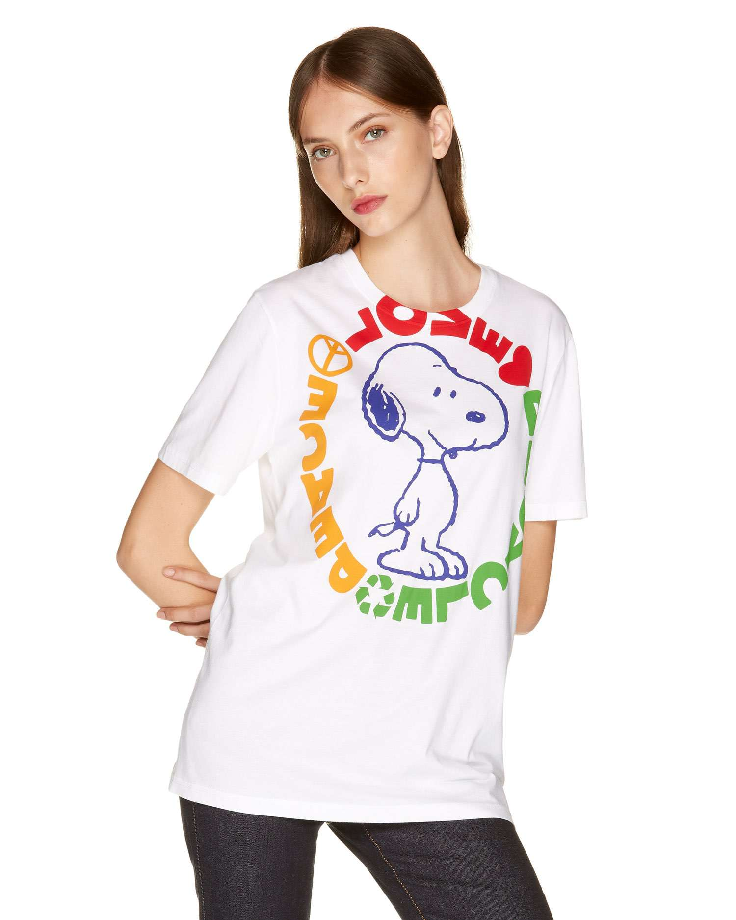 Snoopy Baskılı T-shirt