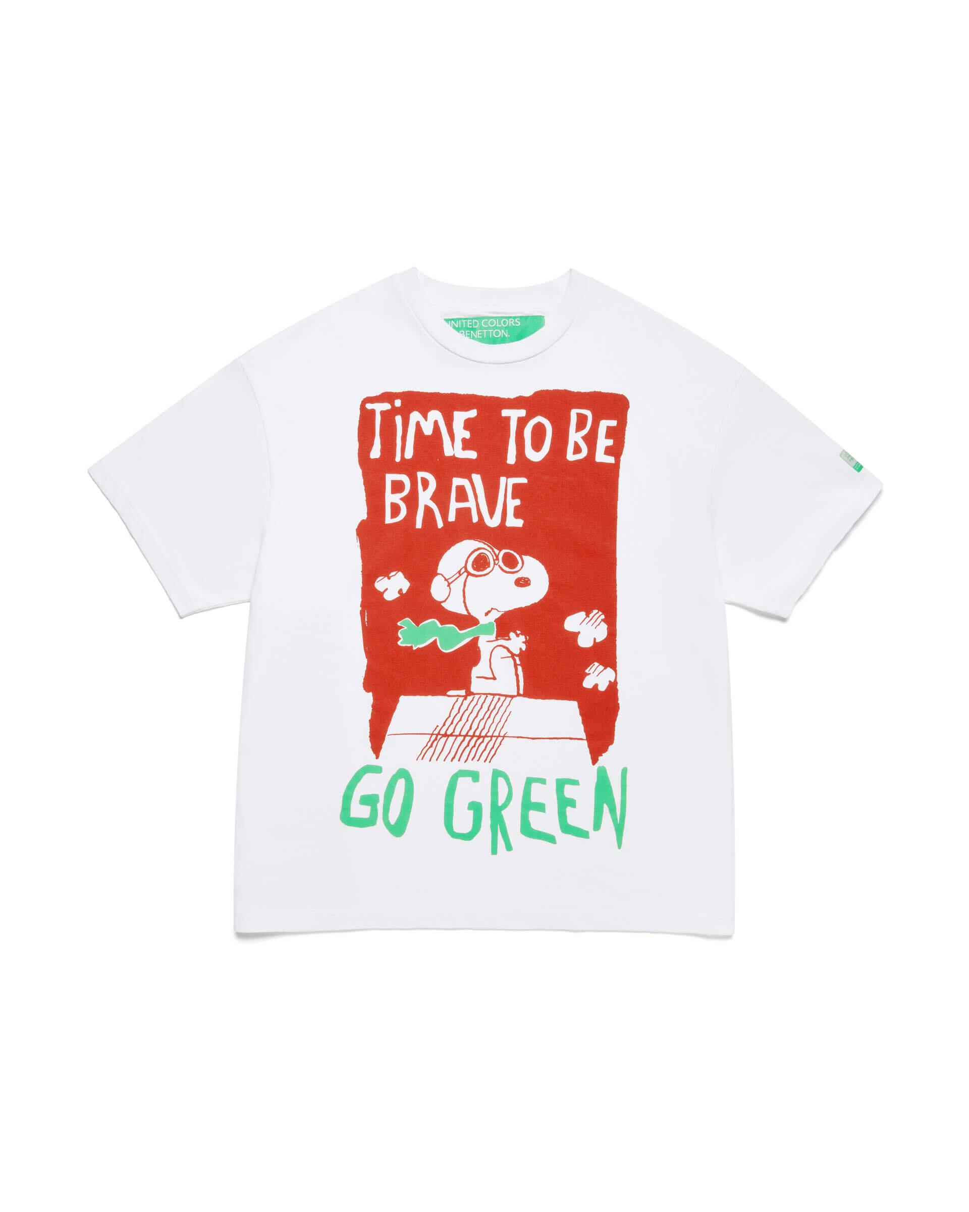 Arkası Logolu Snoopy Tshirt