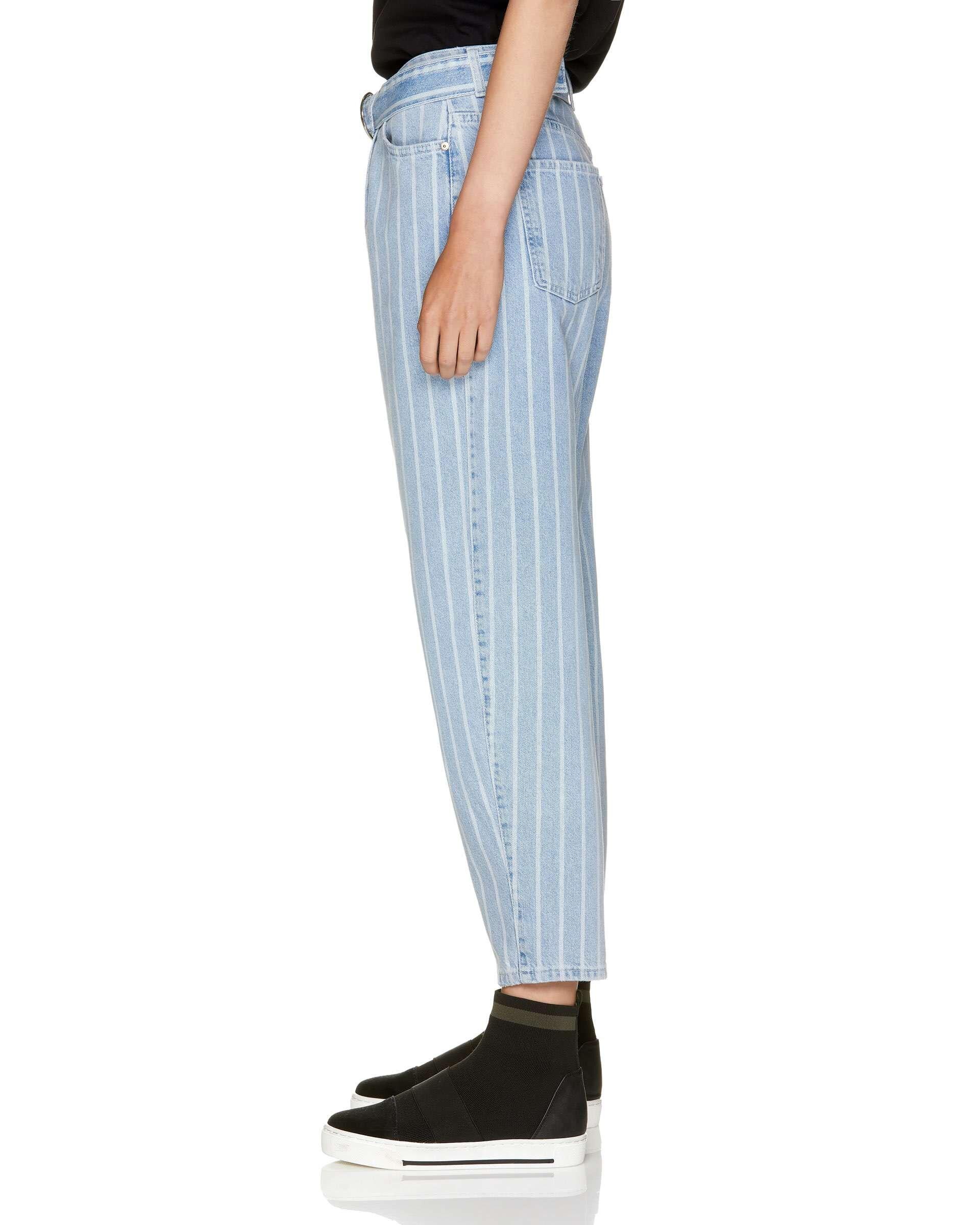 Çizgili Denim Pantolon