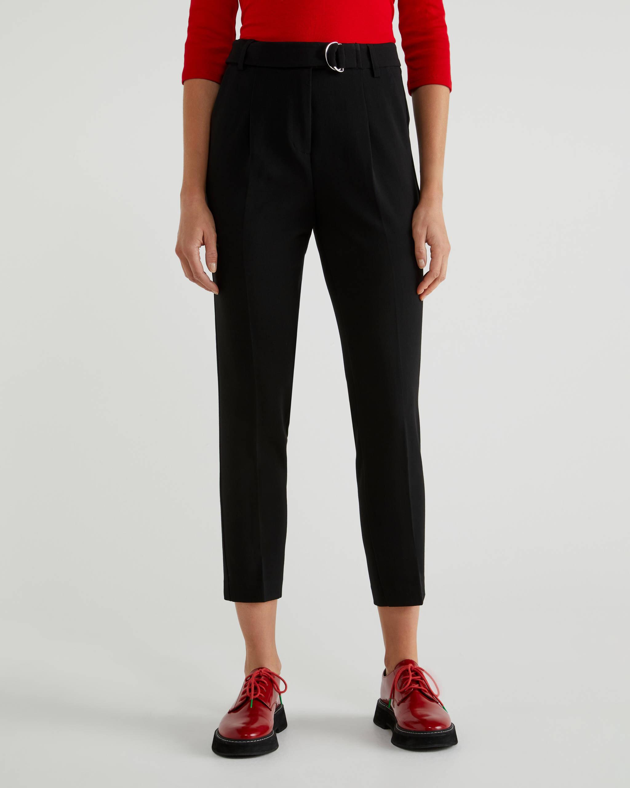 Kemer Detaylı Formal Pantolon