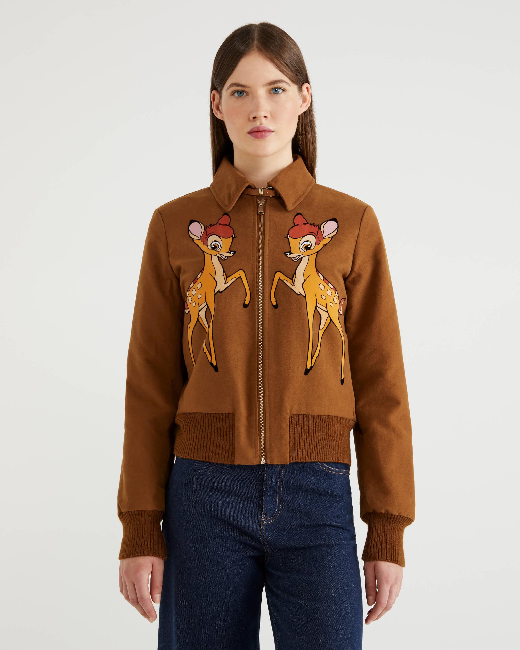 Bambi Nakışlı Bomber Ceket