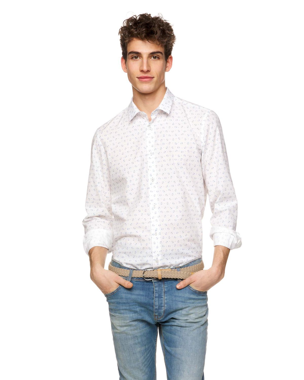 Desenli Slim Fit Koton Gömlek