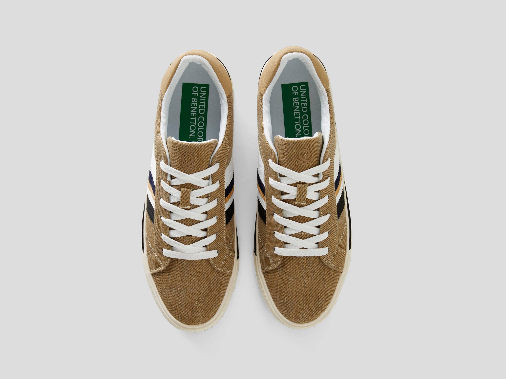 Çizgili Sneaker Ayakkabı