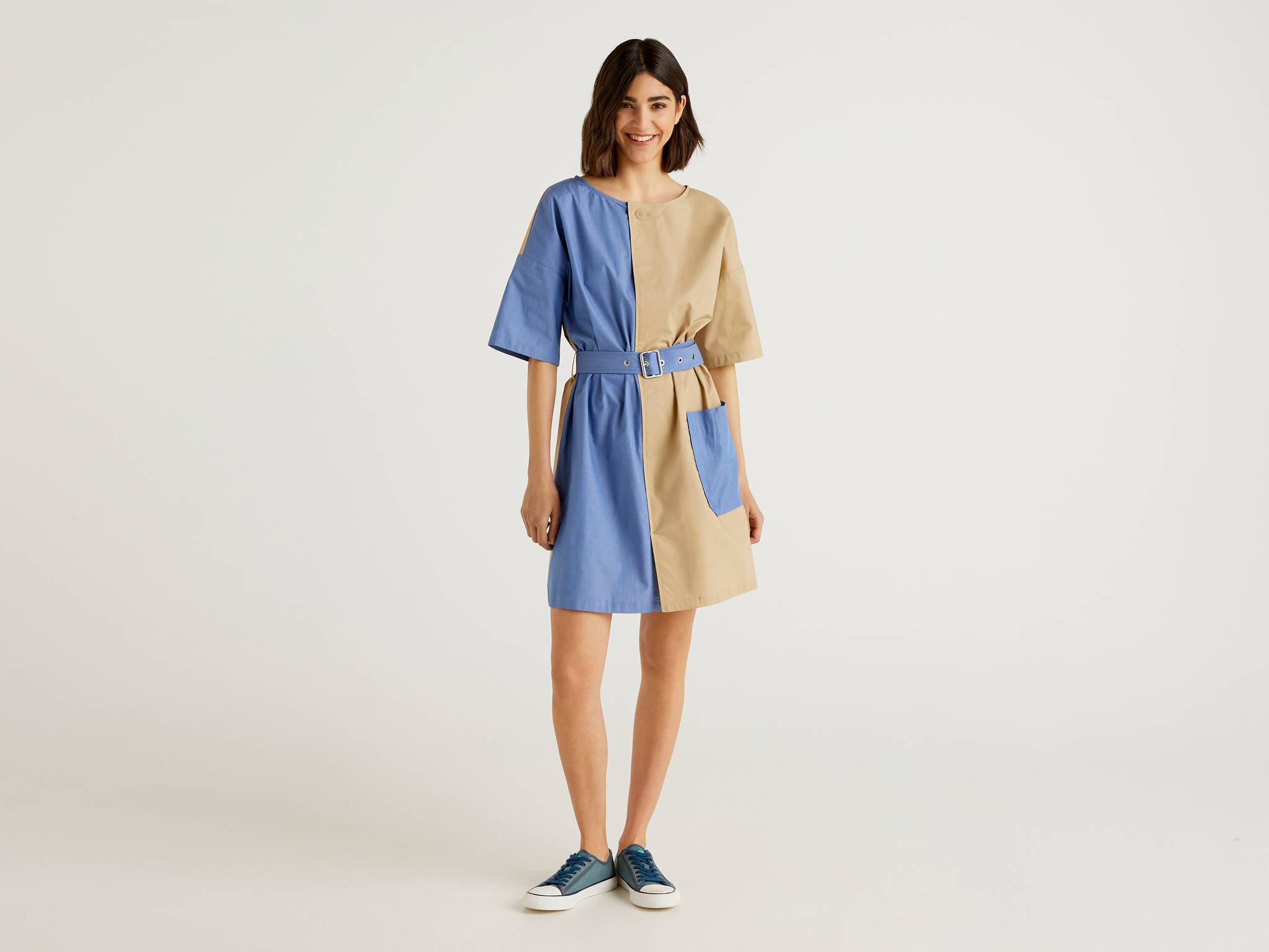Denim Mix Elbise