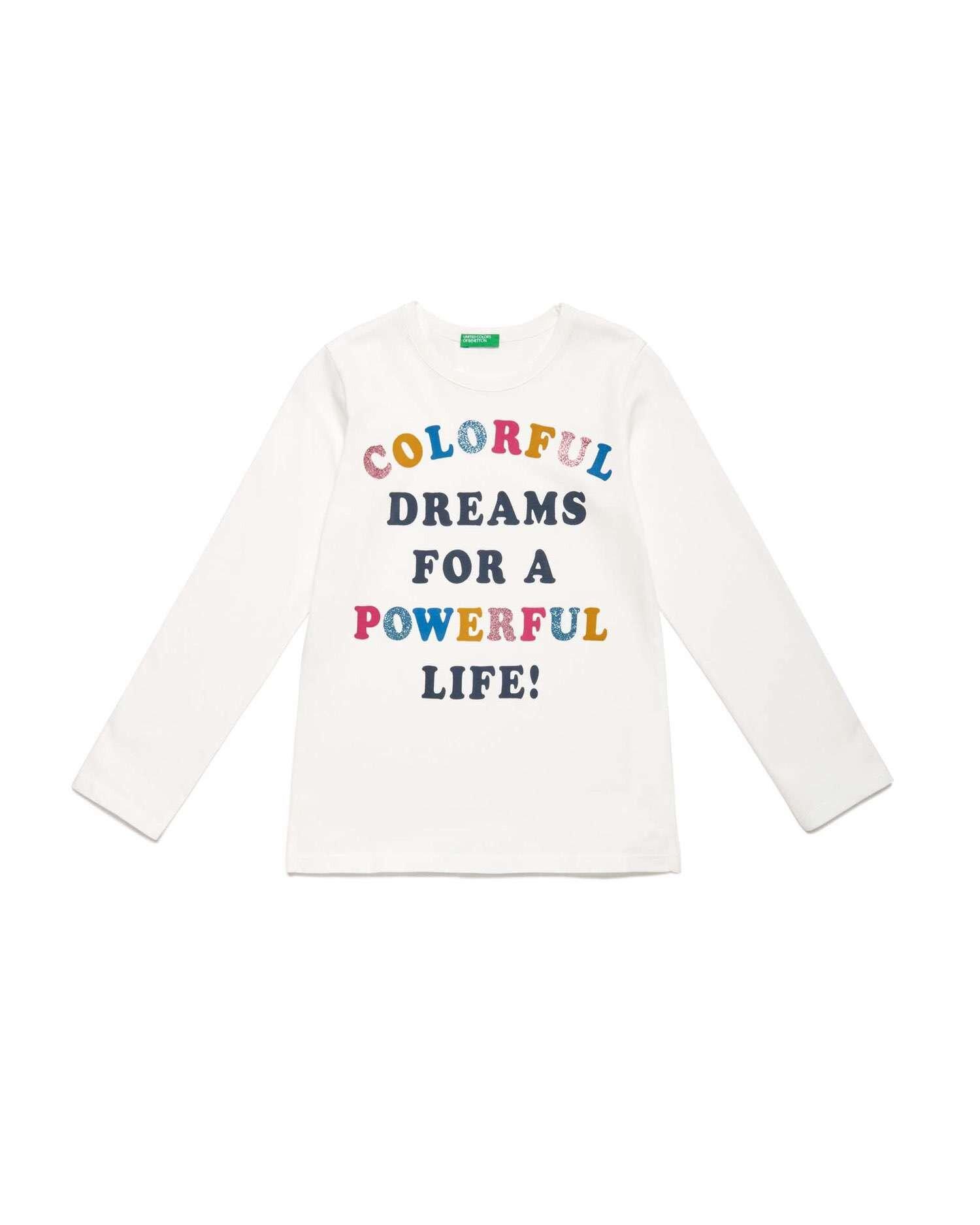 Colorful Sloganlı Tshirt