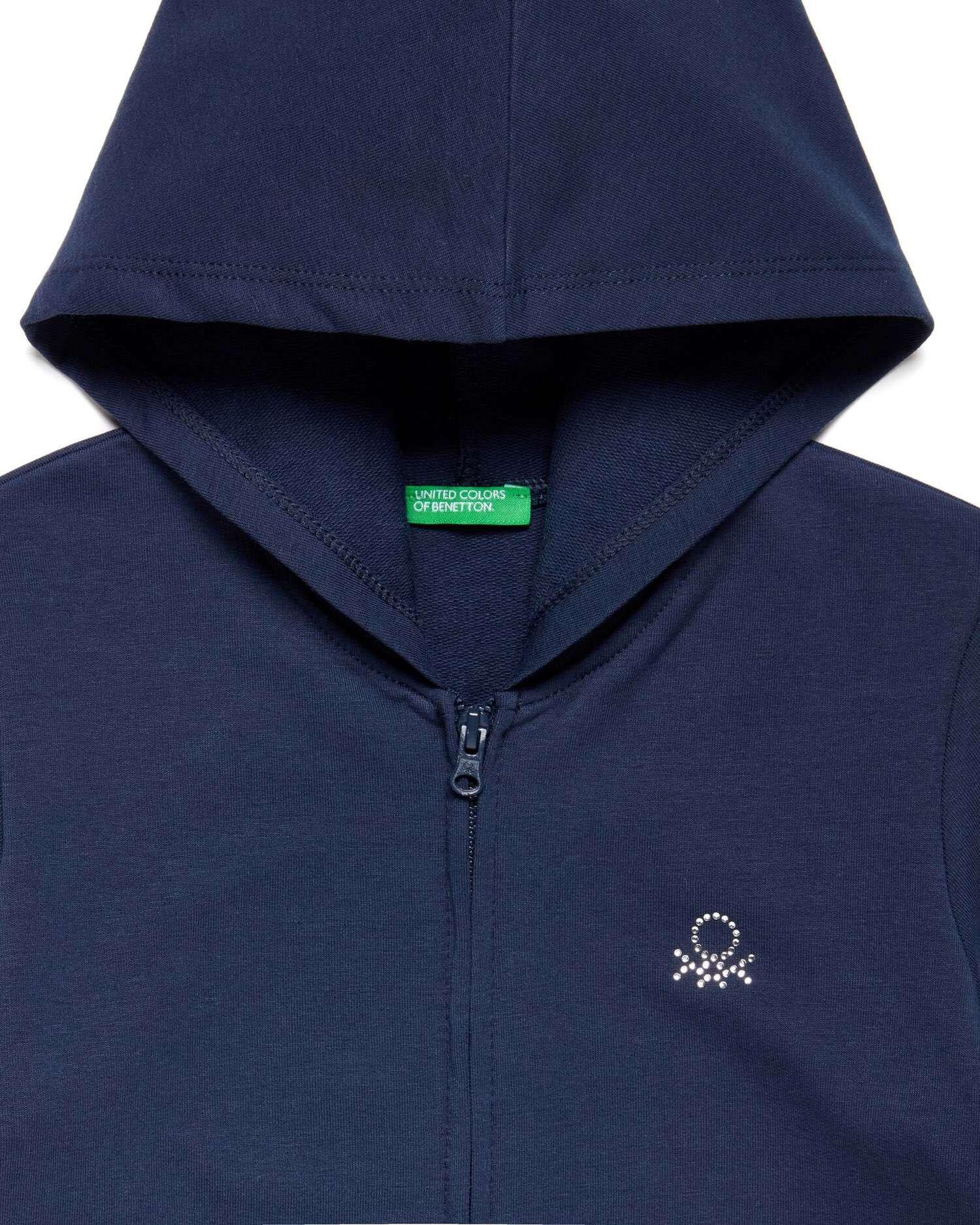 Benetton Logo Taşlı Sweatshir