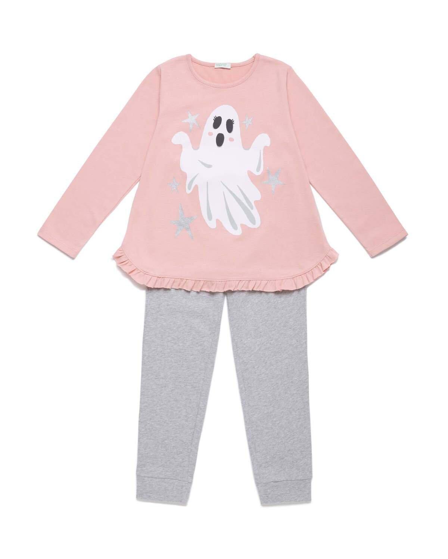 Hayalet Desenli Simli Pijama Takım