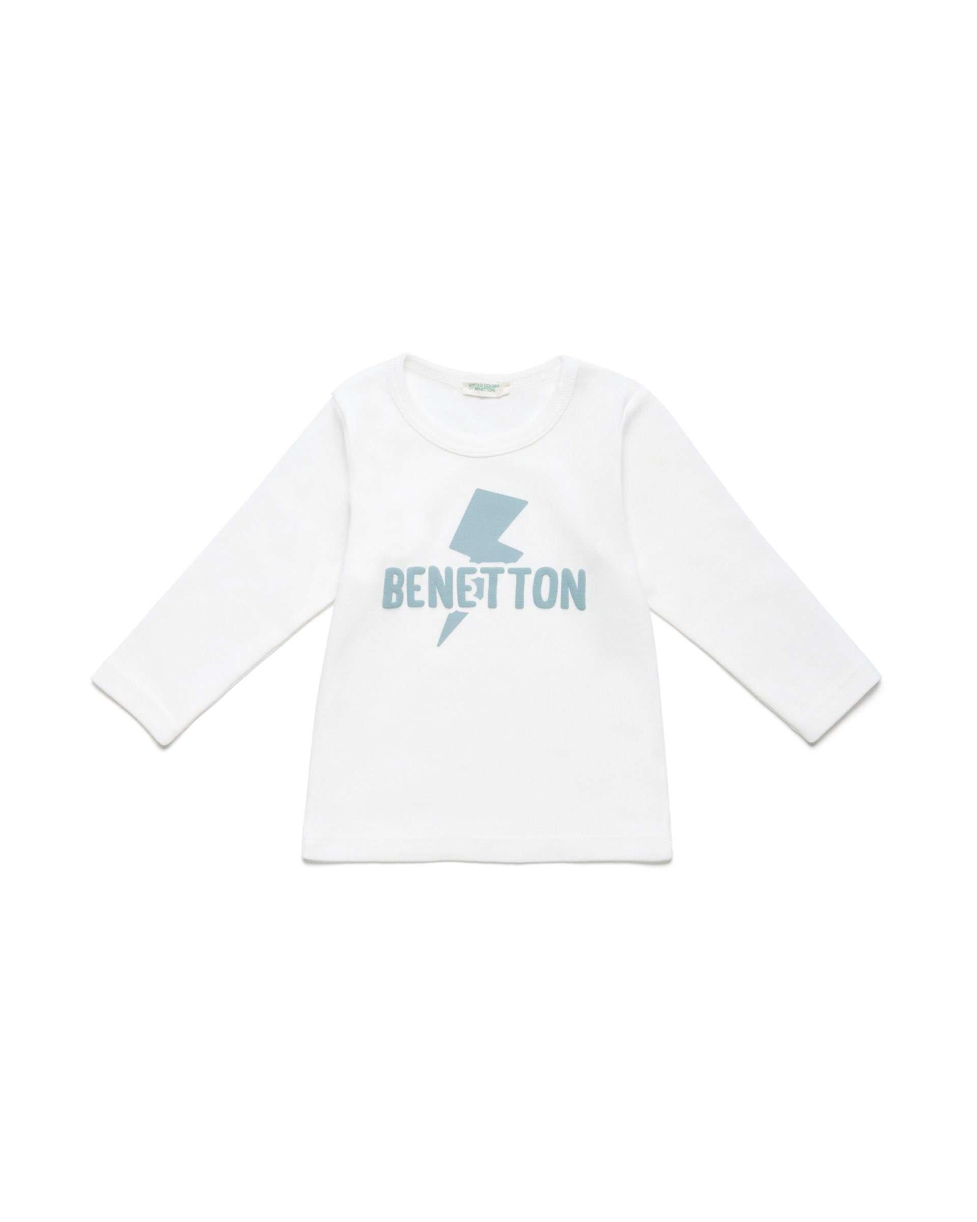Benetton Baskılı Organik Tshirt