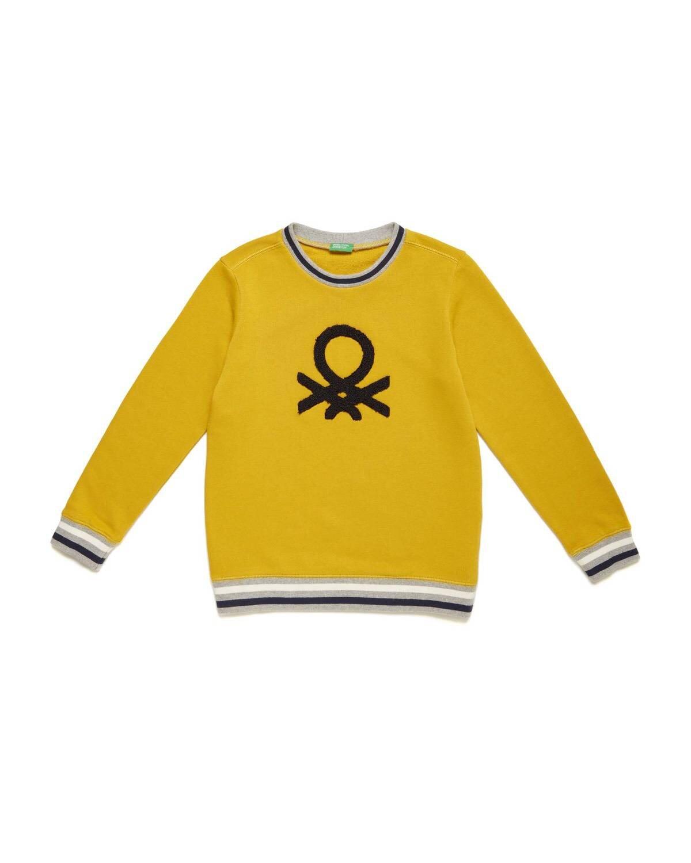 Benetton Aplike Sweatshirt