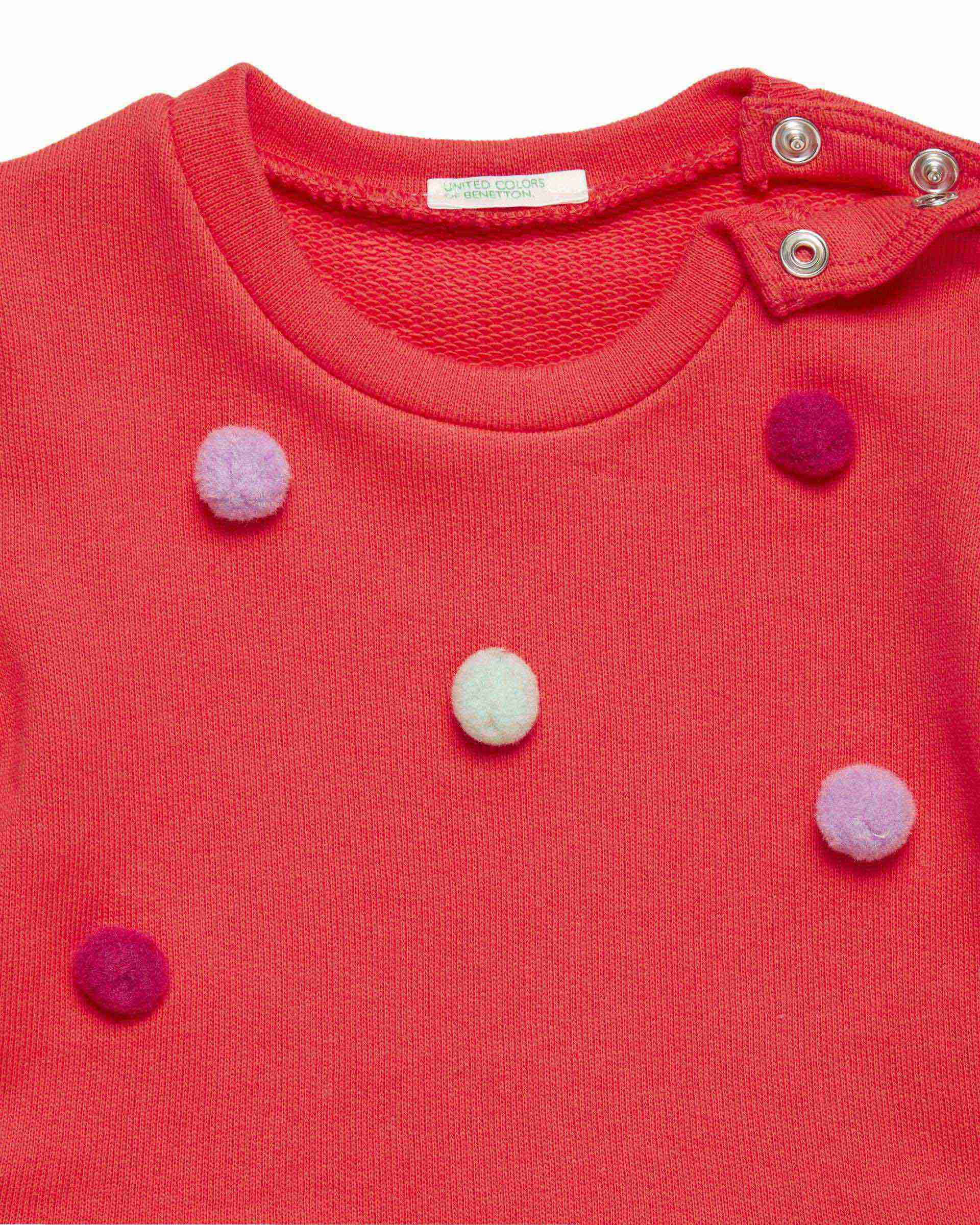 Ponpon Detaylı Organik Sweatshirt