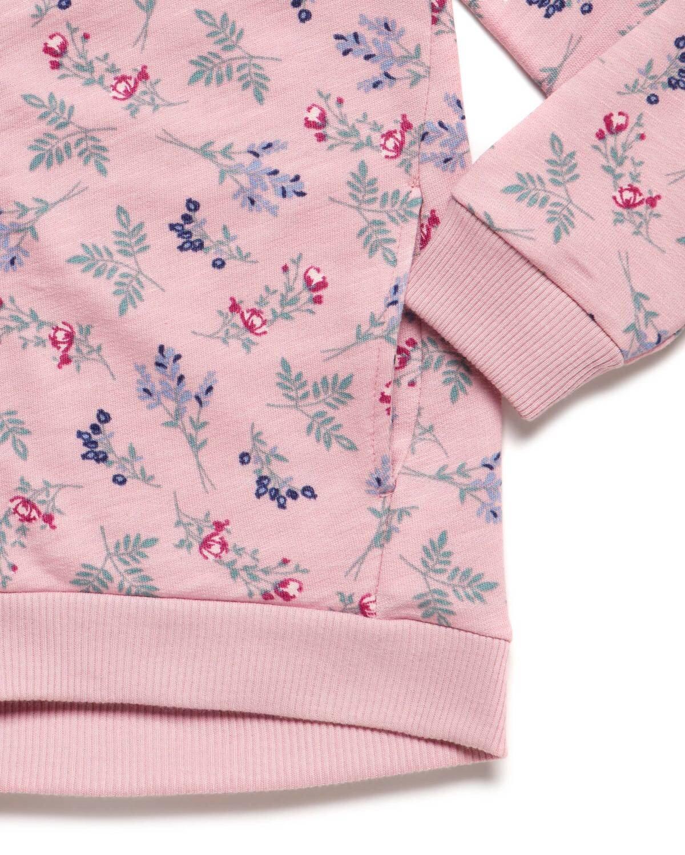 Çiçek Desenli Sweatshirt