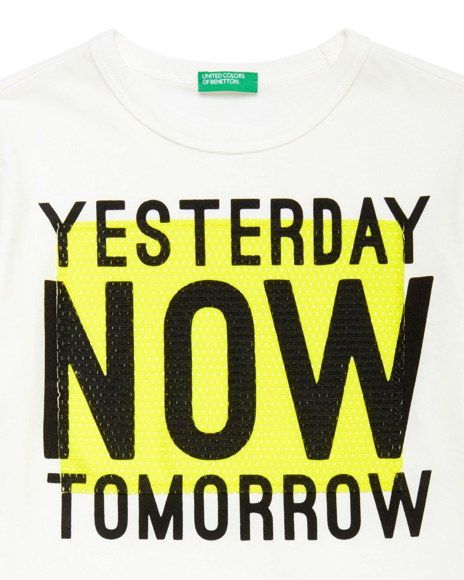 Slogan Baskılı Aplikeli Tshirt