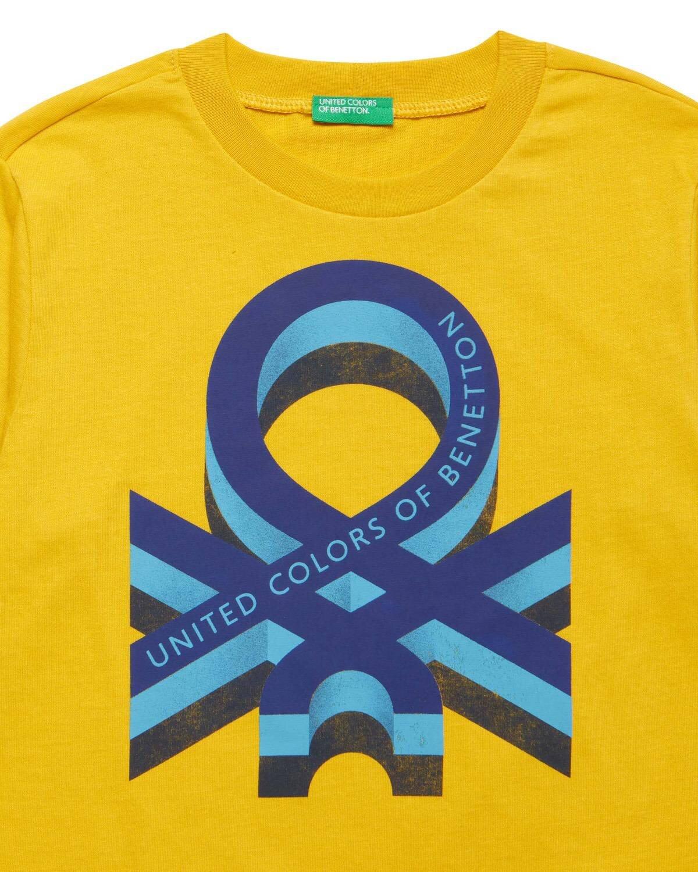 Benetton Yazılı Kış Tshirt