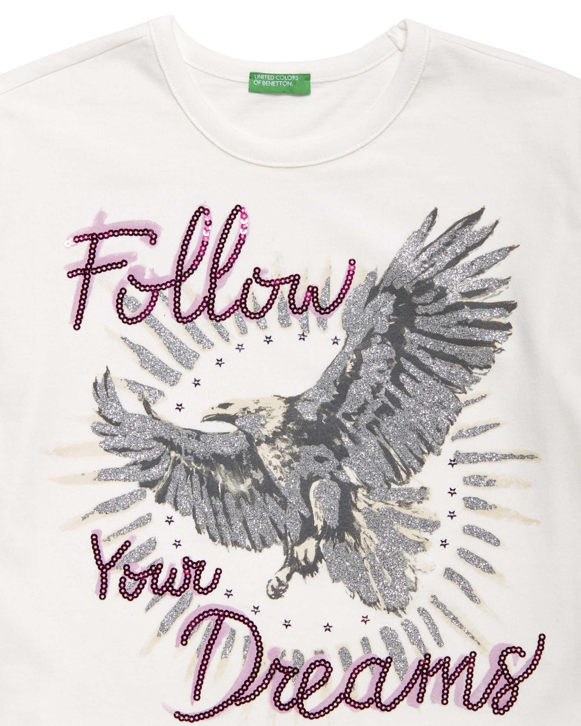 Wild Heart Payet Detaylı Tshirt