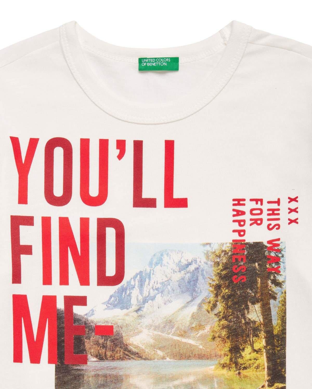 Sloganlı Grafik Baskılı Tshirt