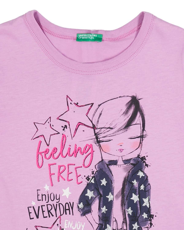 Glitter Grafik Baskılı Tshirt