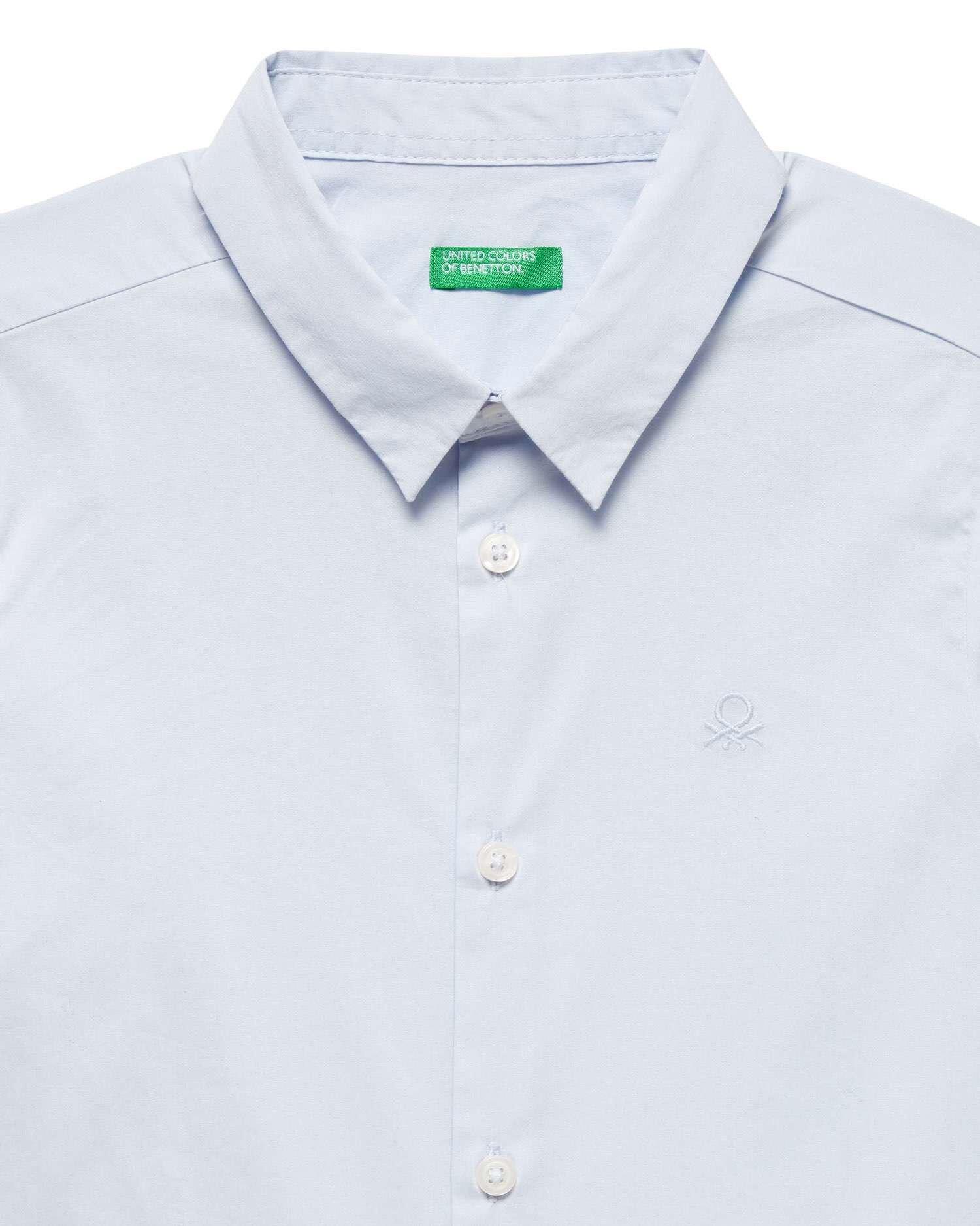 Logolu Poplin Gömlek