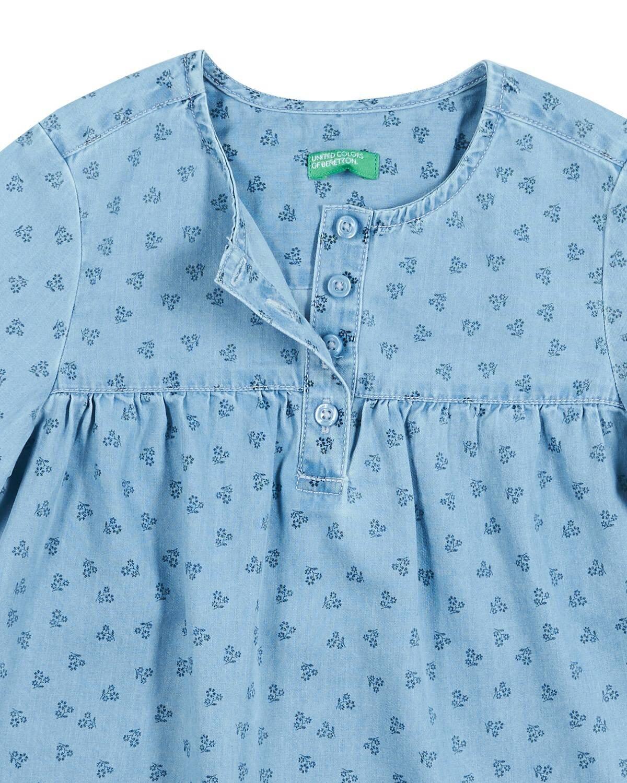 Kendinden Desenli Bluz