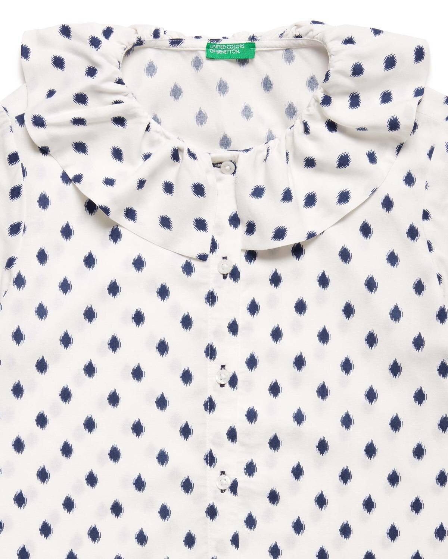Yaka Detaylı Puantiyeli Gömlek