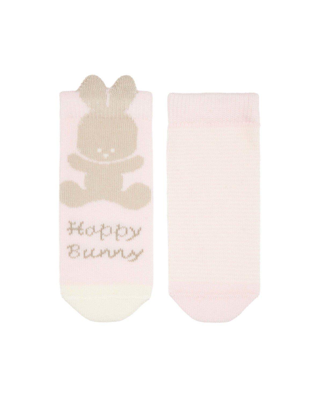 Bunny Çizgili 2li Soket Çorap