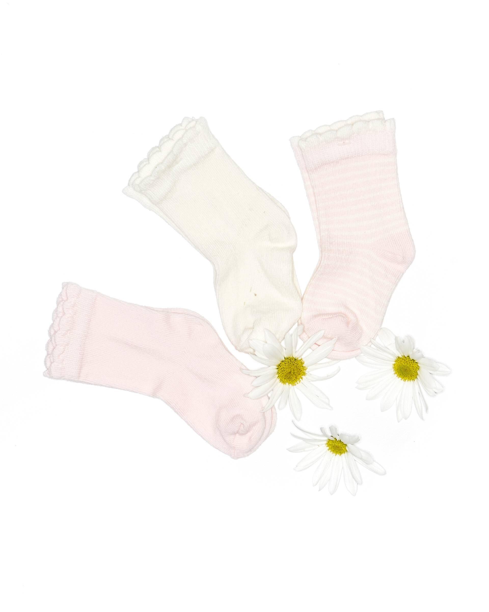 Desenli 3Lü Soket Çorap