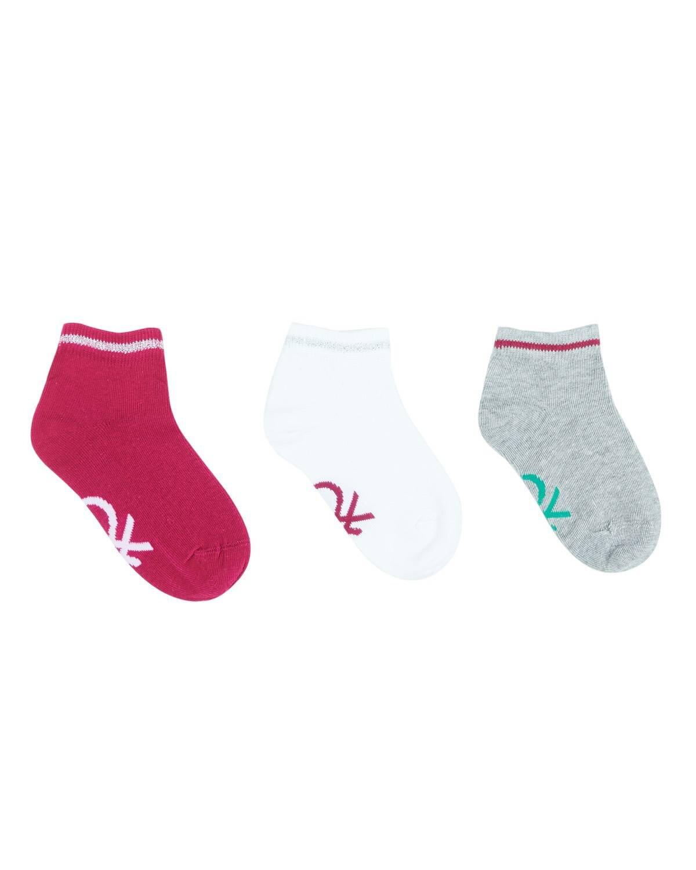 Desenli 3'lü Patik Çorap