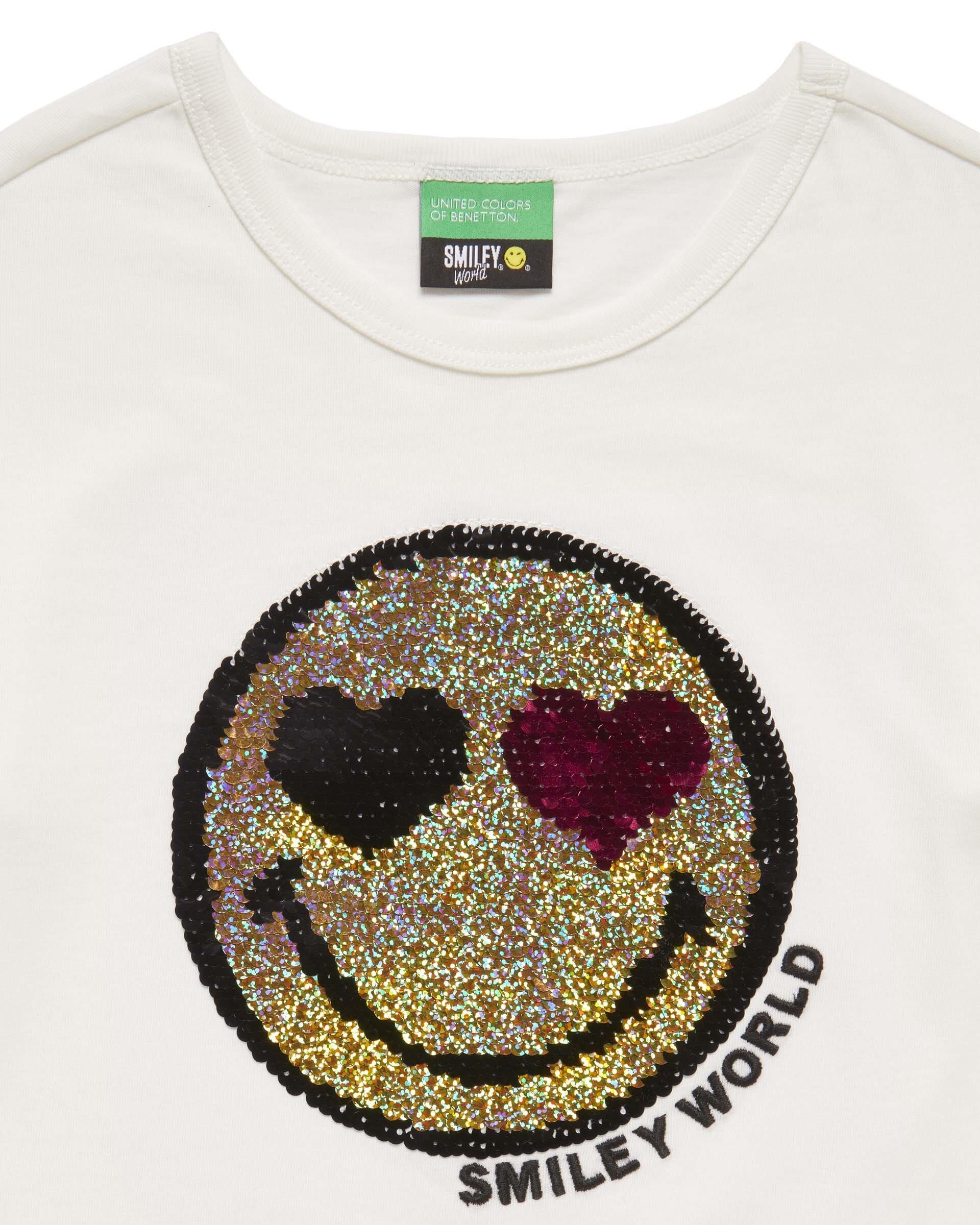 Smiley Payet İşlemeli Tshirt