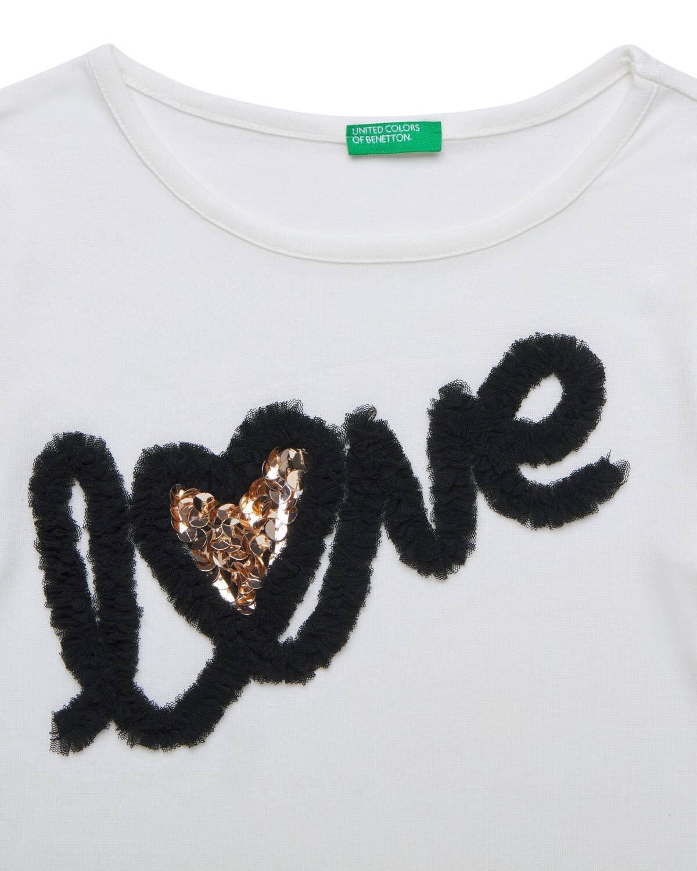 Love Baskılı Tshirt