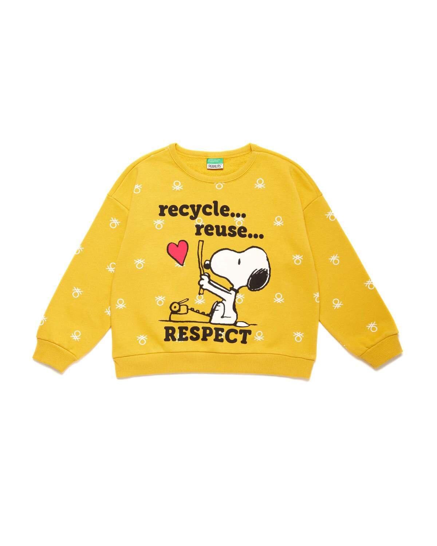 Benetton Logo Snoopy Sweatshirt
