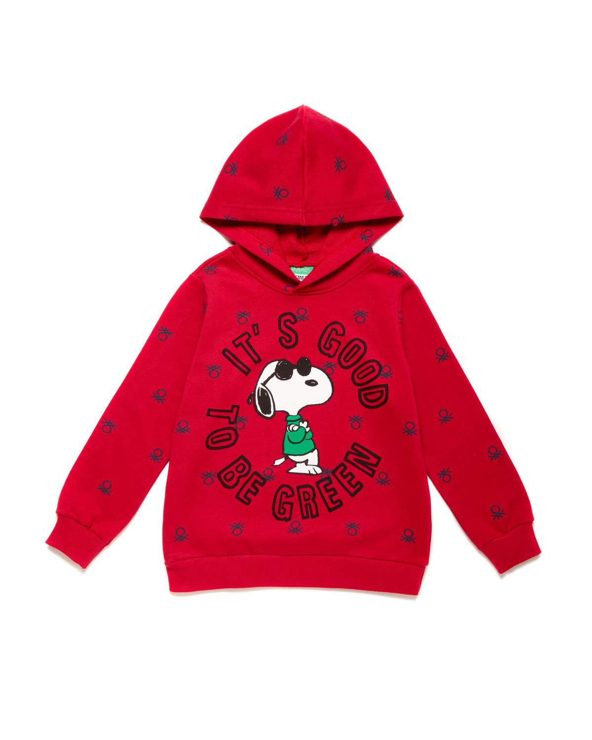 Benetton Logo Snoopy Sweatshi
