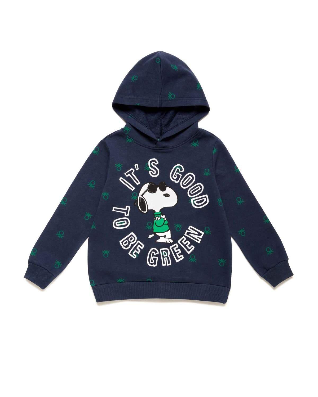 Benetton Logo Snoopy Sweatshi