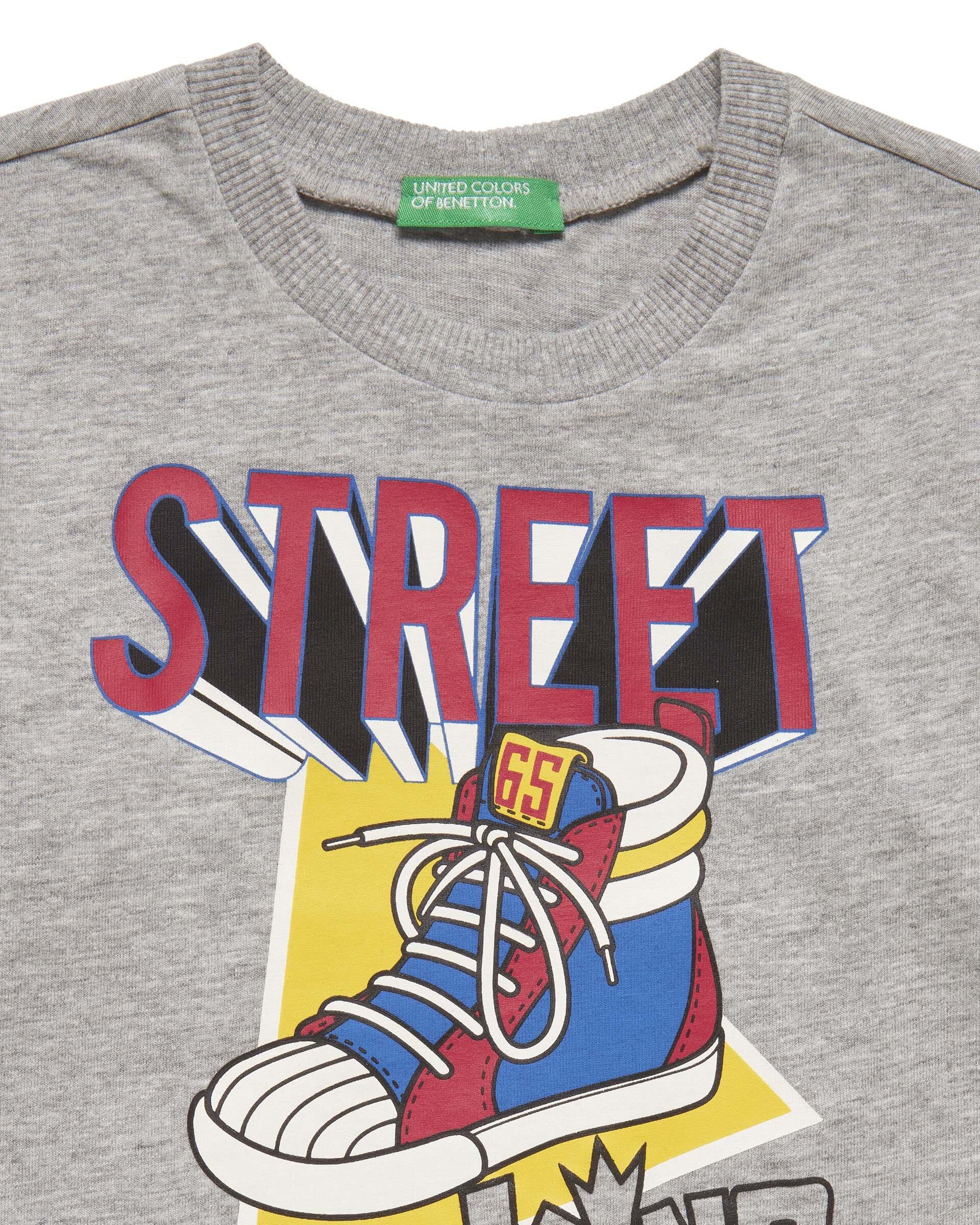 Grafik Slogan Baskılı Tshirt