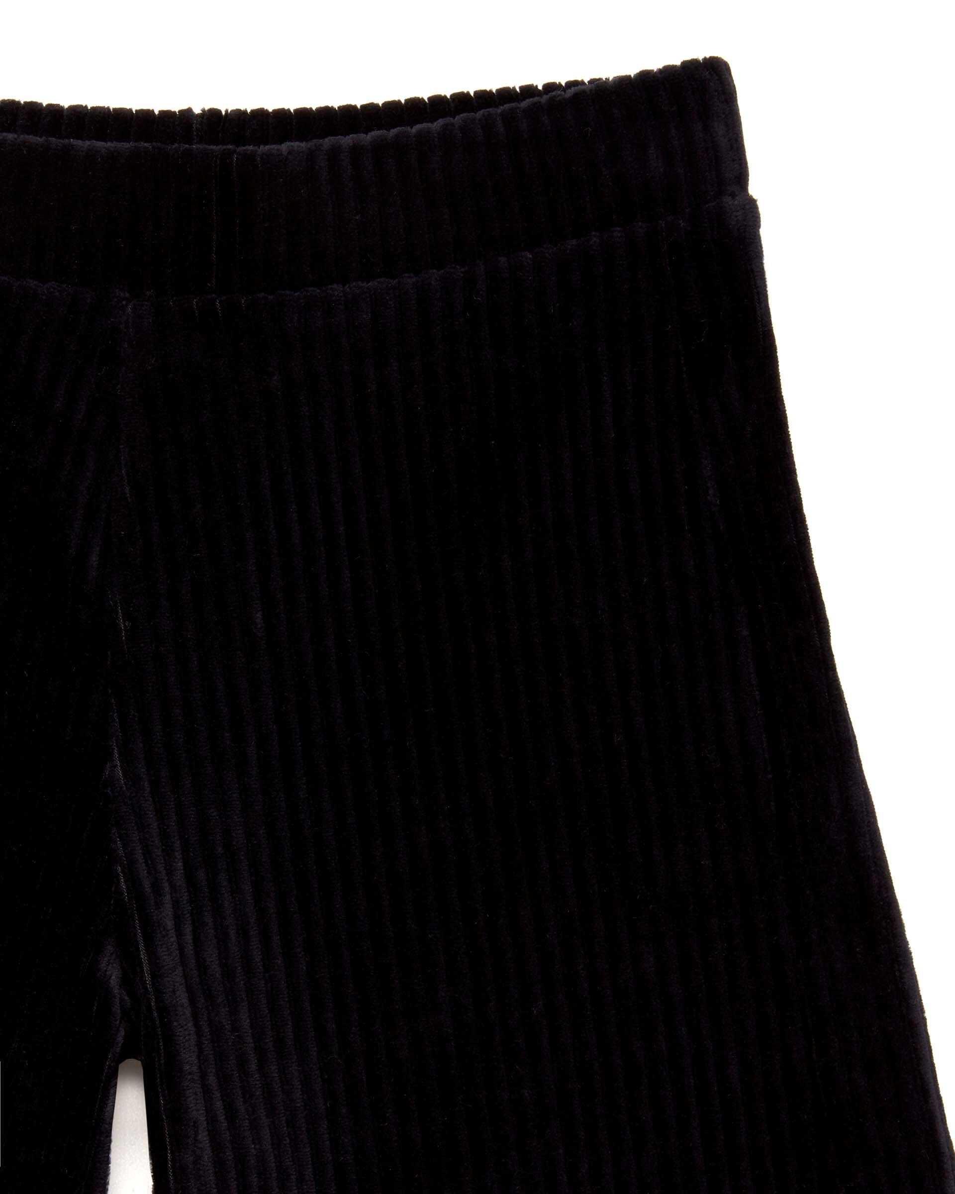 Çizgili Velour Geniş Kesim Pantolon