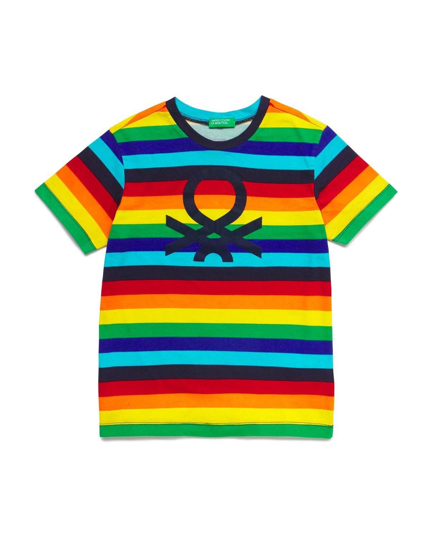 Benetton Logo Desenli Tshirt