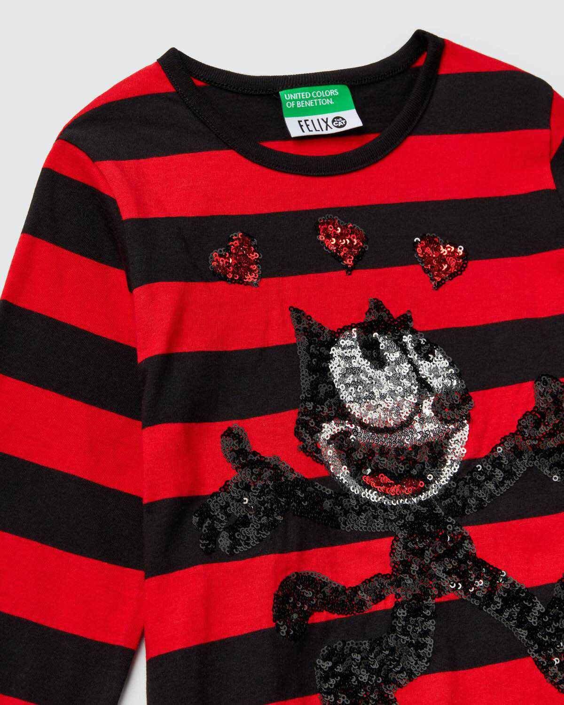 Payetli Felix İşlemeli Tshirt