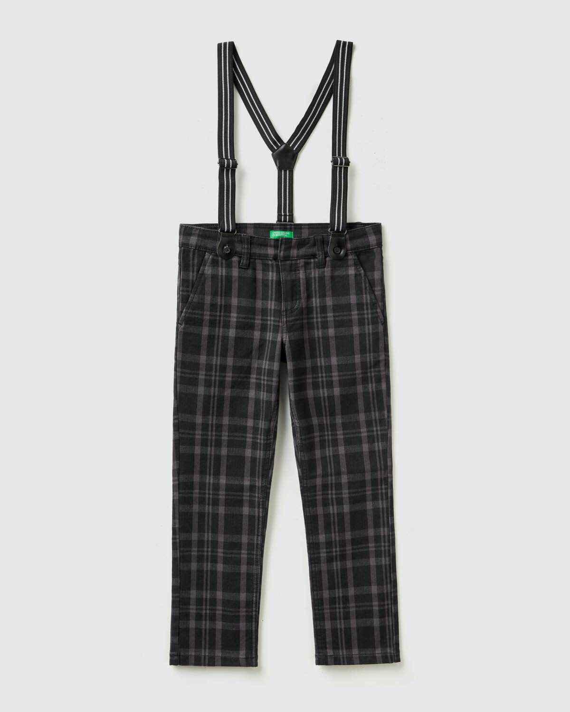 Kendinden Askılı Ekose Pantolon