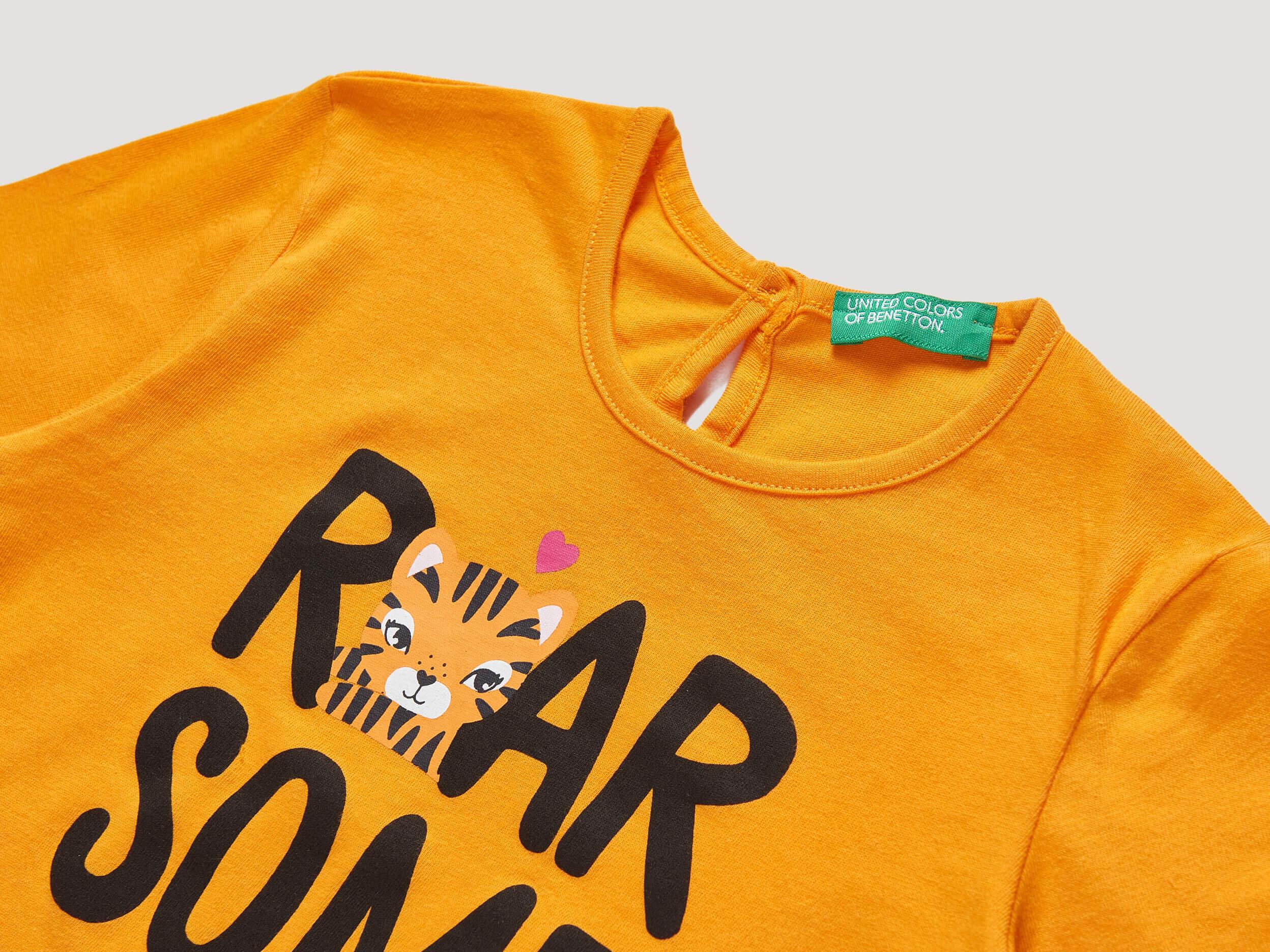 Slogan Yazı Baskılı Tshirt