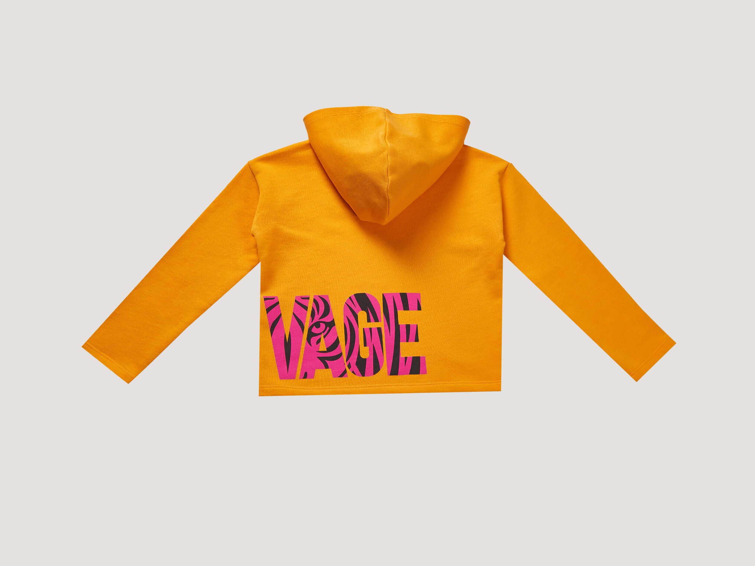 Yazı Baskılı Crop Sweatshirt