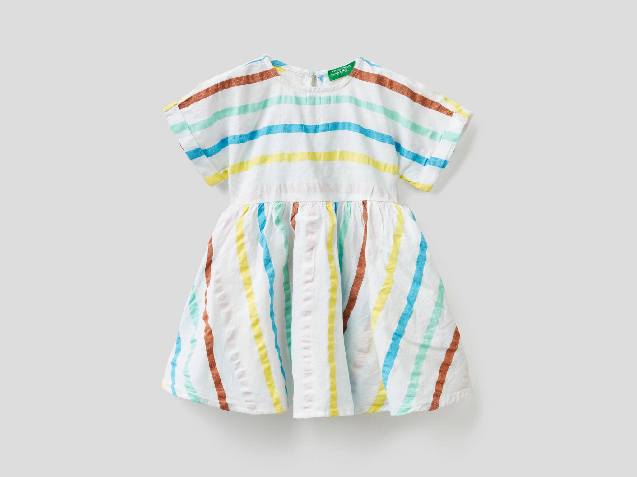 Renkli Çizgili Elbise