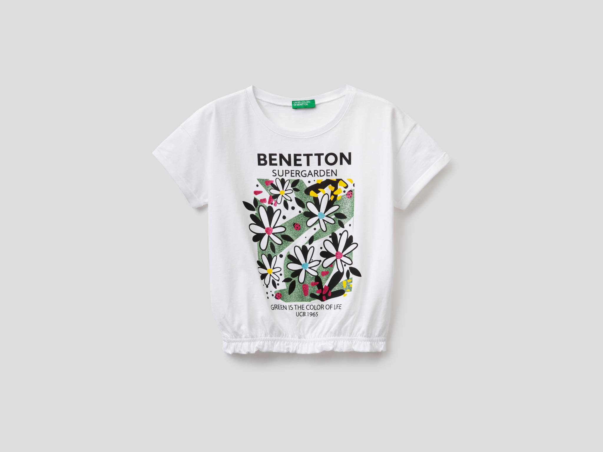 Simli Çiçek Baskılı Tshirt