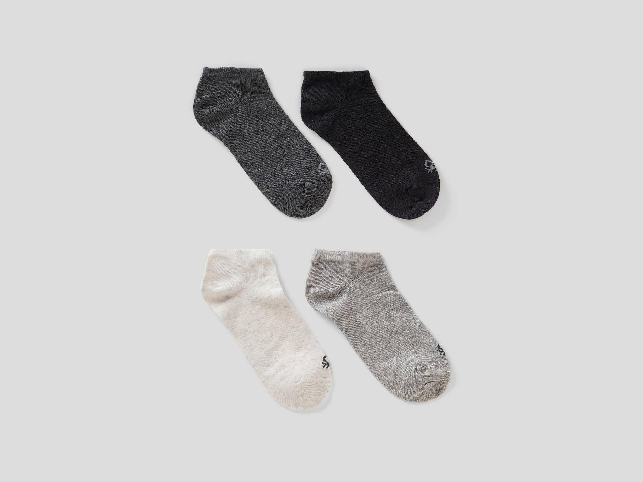4lü Düz Patik Çorap