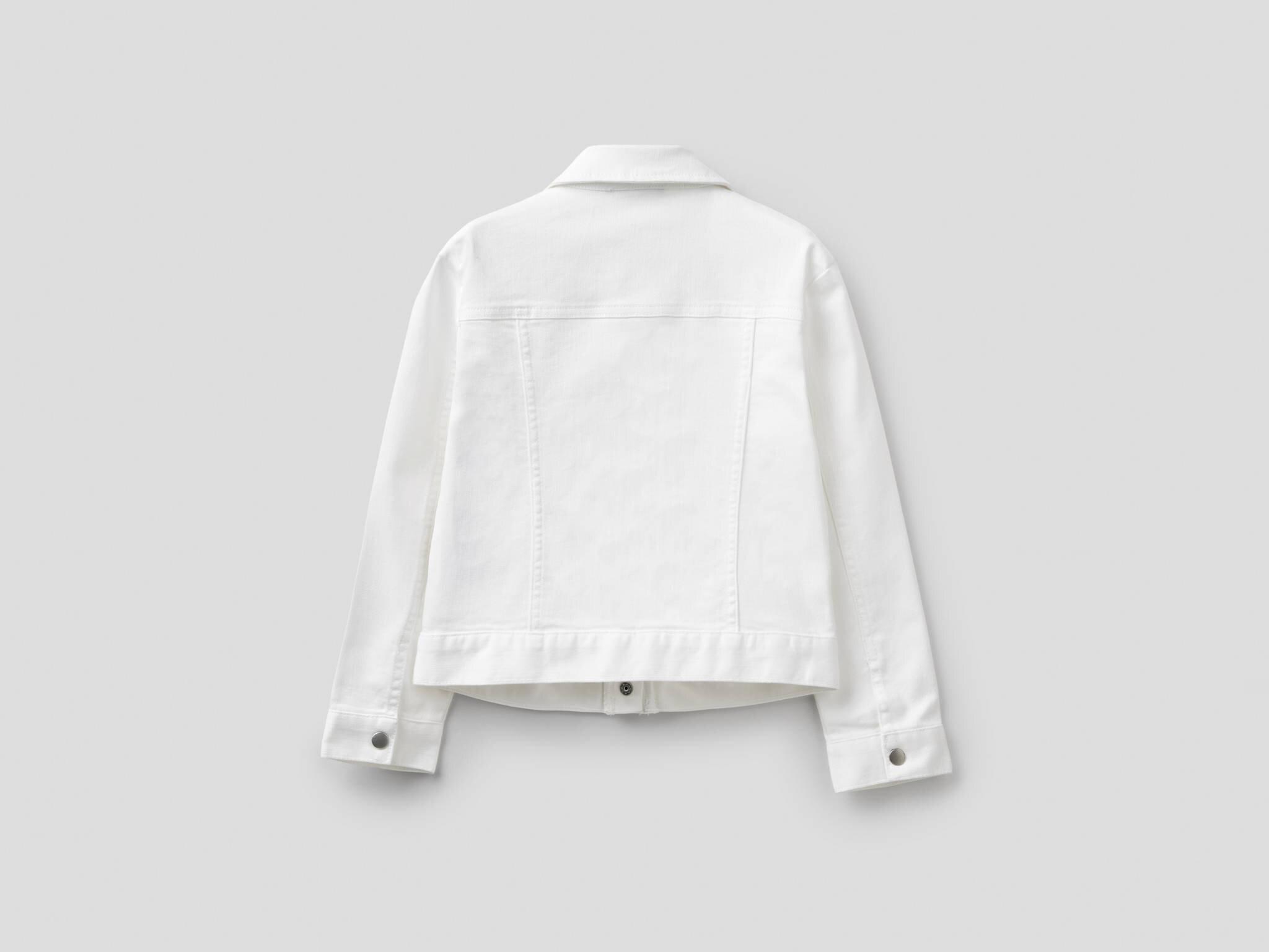 Fırfır Detaylı Renkli Jean Ceket