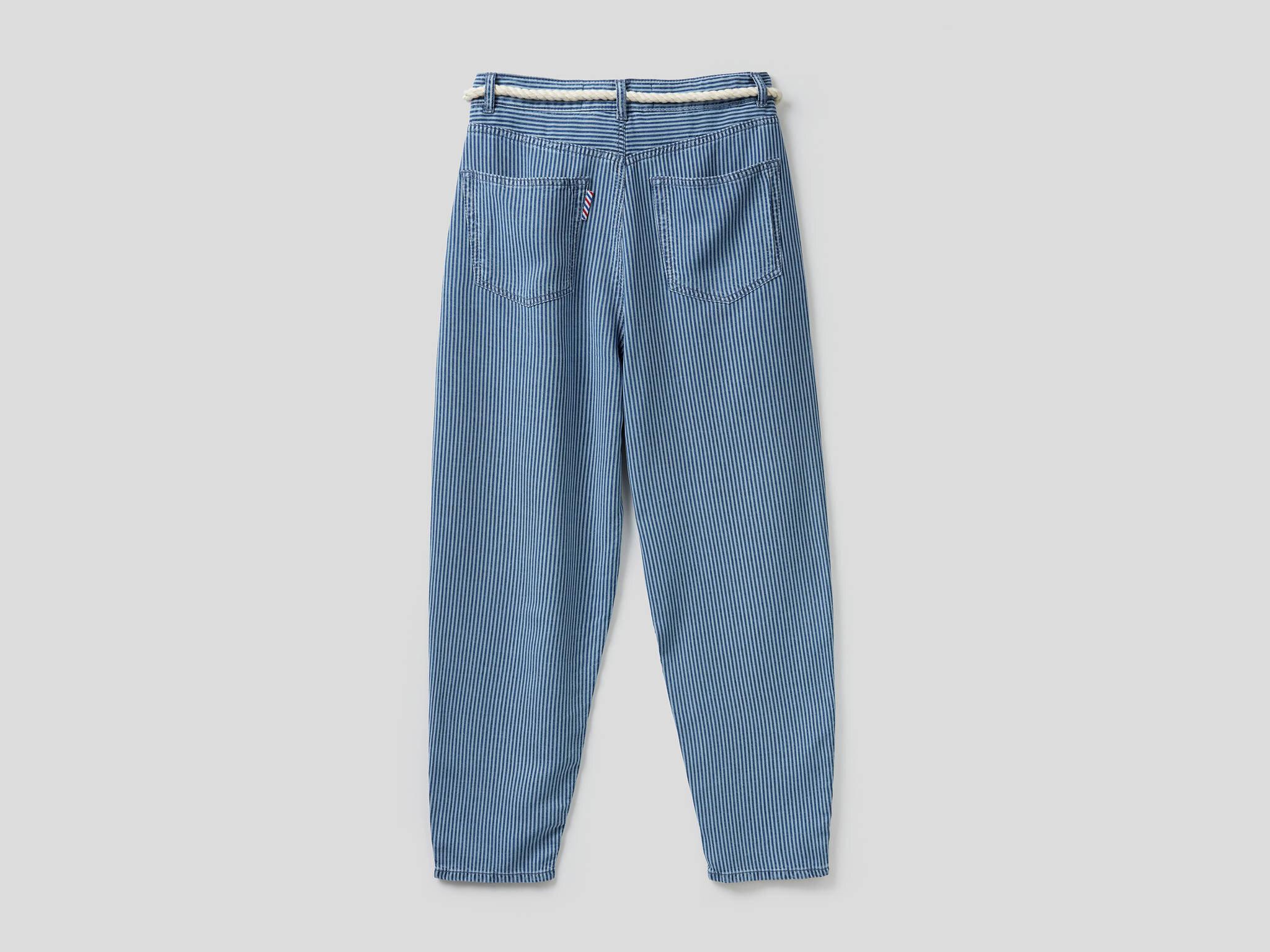 Çizgili Liyosel Pantolon